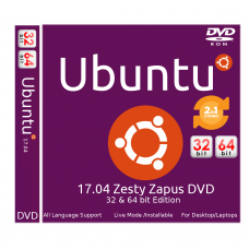 Ubuntu 17.04 Zesty Zapus Bootable DVD - Installation Disc