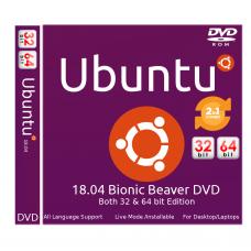 Ubuntu 18.04 Bionic Beaver Bootable DVD - Installation Disc 32bit / 64 bit