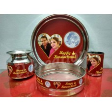 Couple Photo Printed Karwa Chauth Thali Gift